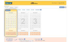 لعبة اليانصيب على الانترنت Euromillions
