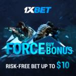 Force buy bonus at 1xbet